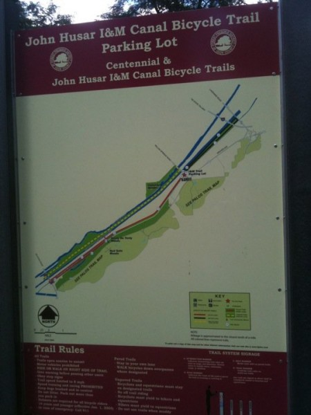 I&M Canal Trail Map 2 Bici